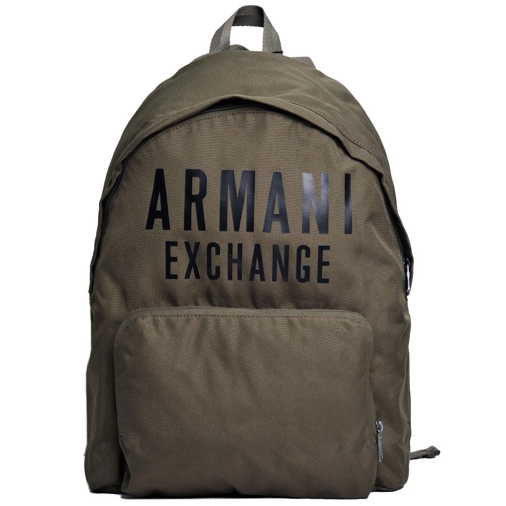 A|X Armani Exchange 經典大字母LOGO輕量後背包(軍綠)