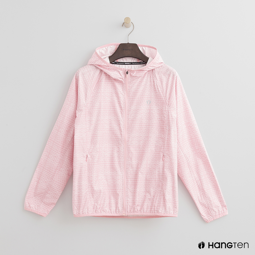 Hang Ten - 女裝 - ThermoContro-拉鍊設計機能連帽外套-粉