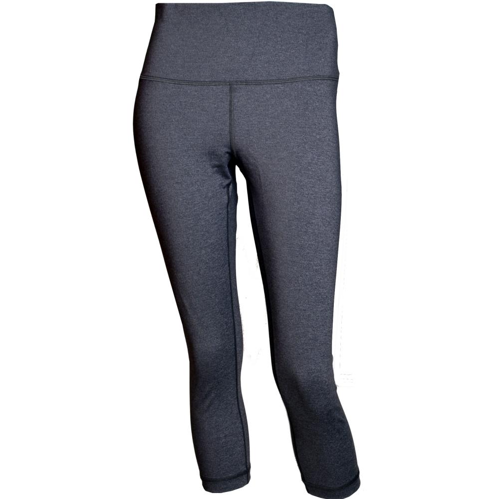 【lululemon】Wunder Under HR Crop 高腰瑜珈運動緊身褲/針織灰(LW6AW2S HBLK)