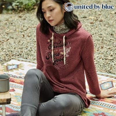 United by Blue 女起球長袖連帽上衣 201-075 紫紅 (XS-L)