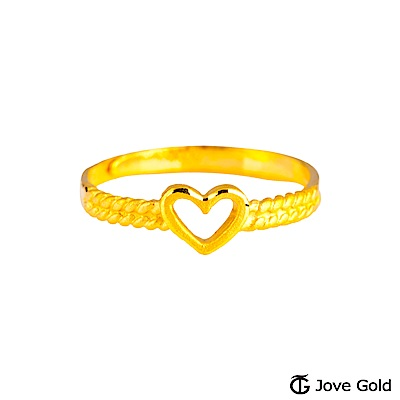 Jove gold 關於愛黃金戒指