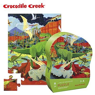 美國Crocodile Creek  迷你造型拼圖系列-侏儸紀公園