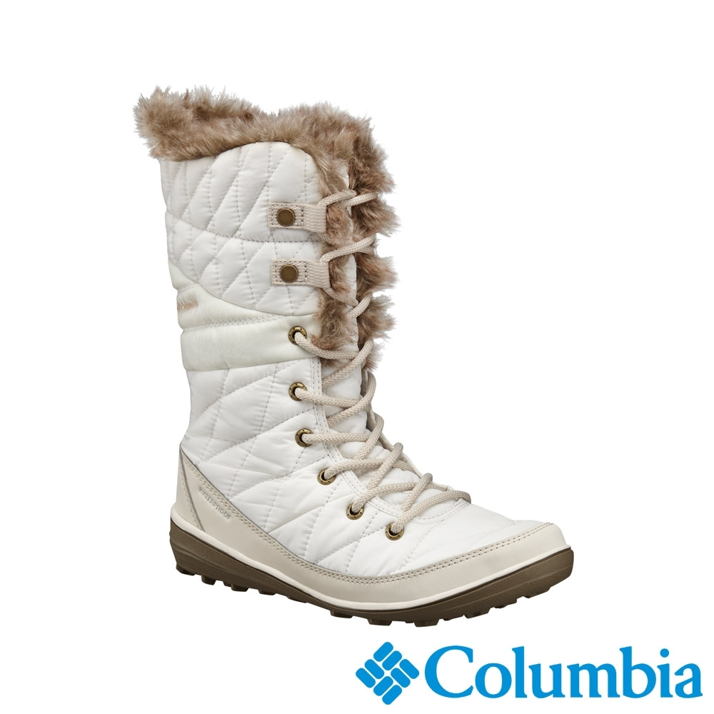 Columbia 哥倫比亞 女款- Omni TECH防水3D保暖雪靴-米白