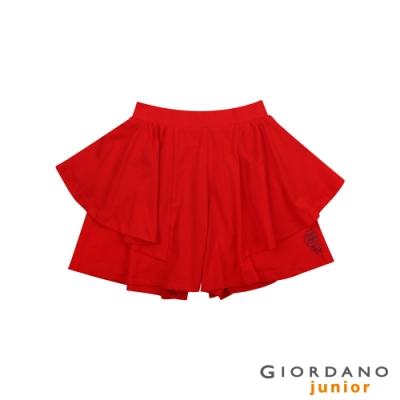 GIORDANO 童裝荷葉邊可愛印花褲裙-30 競賽紅