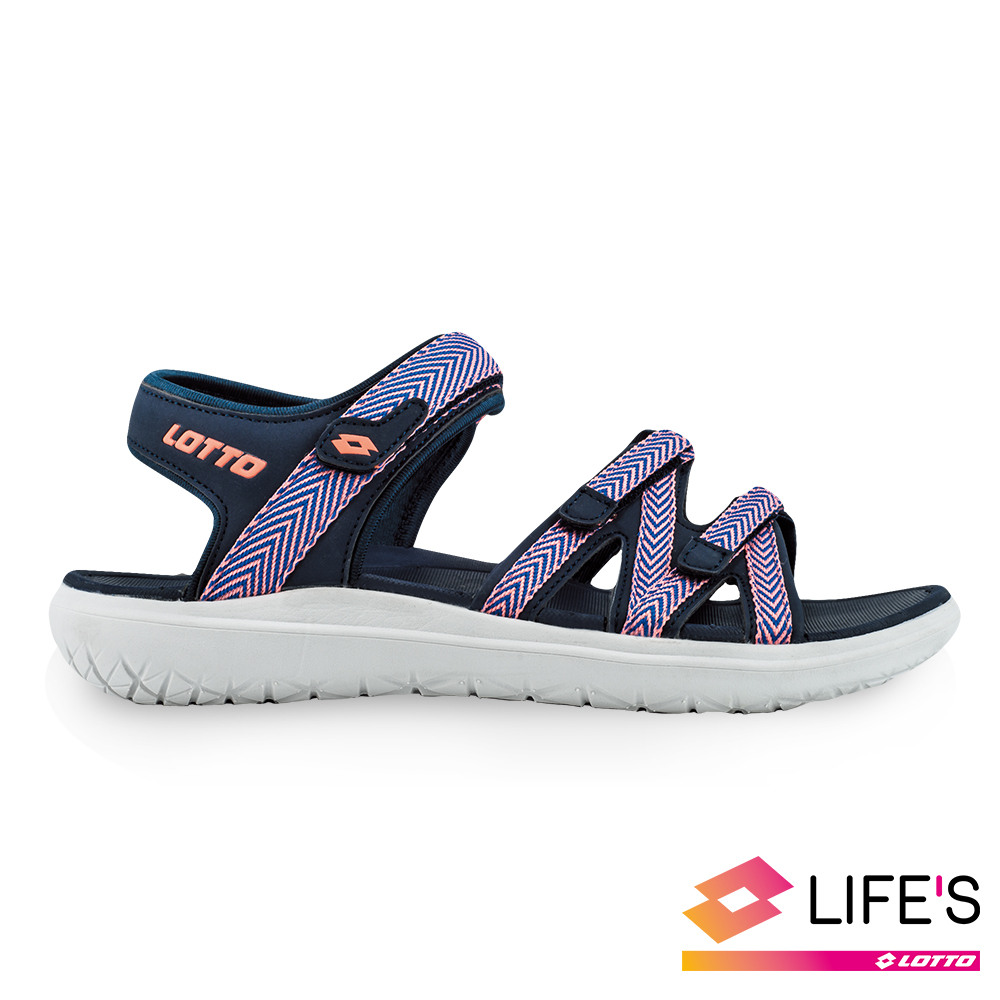 LOTTO 義大利 女 織帶輕涼鞋 (深藍)