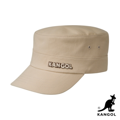 KANGOL-COTTON TWILL 軍用帽-米色