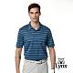 【Lynx Golf】男款歐洲進口布料百搭橫條緹花胸袋款長袖POLO衫-藍色 product thumbnail 2