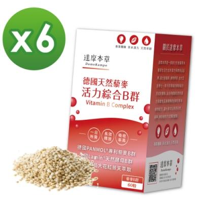 【達摩本草】專利天然藜麥綜合B群x6盒 (60粒/盒)《長效吸收、活力不斷電》