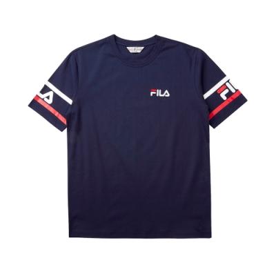 FILA #LINEA ITALIA 短袖圓領T恤-丈青 1TET-5402-NV