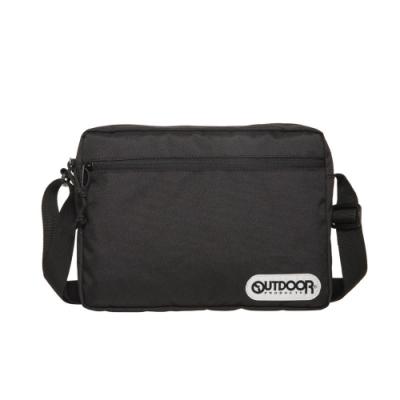 【OUTDOOR】橫式側背包-黑色 OD291103BK