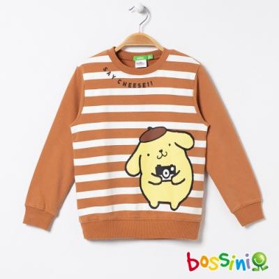 bossini男童-布丁狗圖案厚棉T恤焦糖色