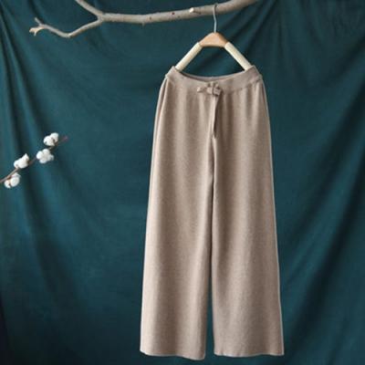 垂墜質感繫帶休閒寬鬆顯瘦寬管長褲-設計所在