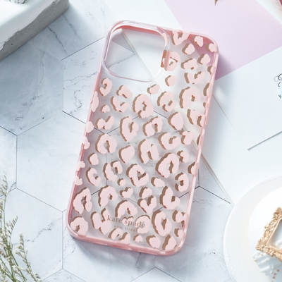 【kate spade】iPhone 13 Pro Max 6.7吋 手機保護殼-粉紅豹紋