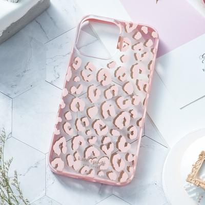【kate spade】iPhone 13 Pro 6.1吋 手機保護殼-粉紅豹紋