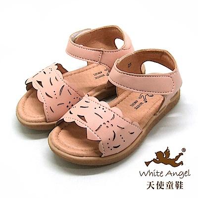 天使童鞋 涼夏花語涼鞋(小童)i922-粉