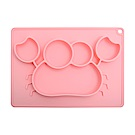 EXPECT兒童矽膠餐盤(螃蟹款)-粉色