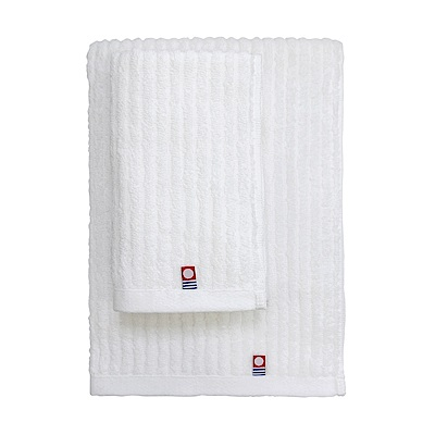 日本丸真 今治原綿純白浴巾-橫紋