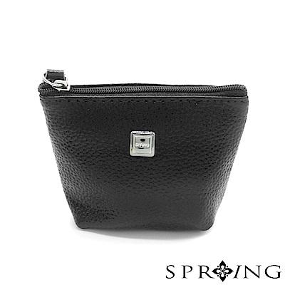 SPRING-特價-微風城市鑰匙圈零錢包-優雅黑