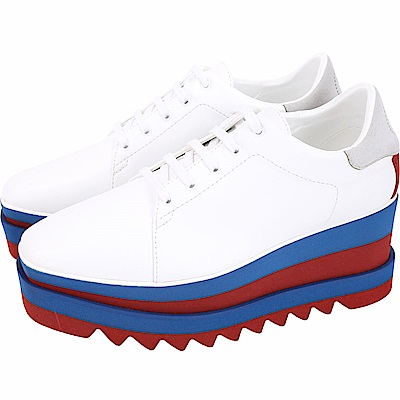Stella McCartney Elyse 拼色鋸齒厚底紳士鞋(白色)