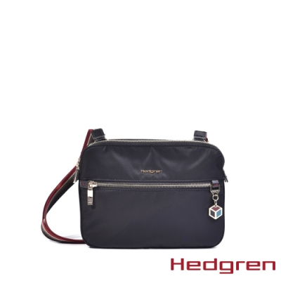 【Hedgren】CHARM貼身輕便 側背包-烏黑