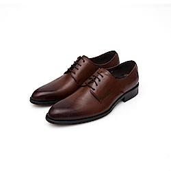 ALLEGREZZA-真皮男鞋-德比狂潮-擦色皮革素面德比鞋 咖啡色