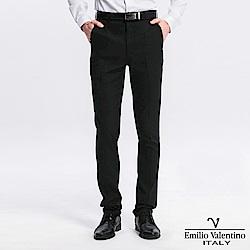 Emilio Valentino 范倫提諾修身彈性平面西褲-黑