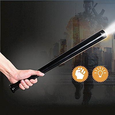 【Incare】棒球棍型-防身強光手電筒(防爆防身/持續照明)