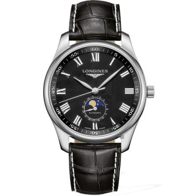 LONGINES 浪琴 Master 巨擘系列羅馬月相機械錶-42mm L29194517