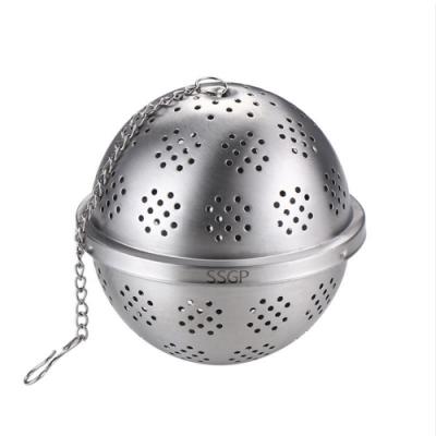 PUSH!廚房用品304不鏽鋼調料球泡茶茶隔滷水過濾網香料包煲湯過濾球D193大號二入