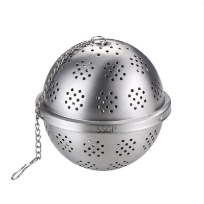 PUSH!廚房用品304不鏽鋼調料球泡茶茶隔滷水過濾網香料包煲湯過濾球D193中號二入