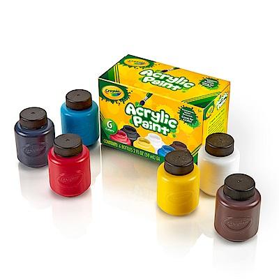 美國Crayola 繪兒樂 壓克力顏料2盎司6色(5Y+)