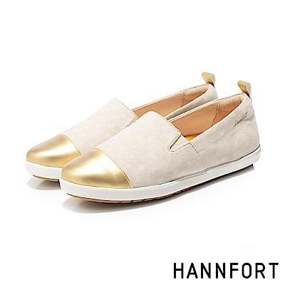 HANNFORT CALIFORNIA繽紛雪花金頭鞋-女-卡其米