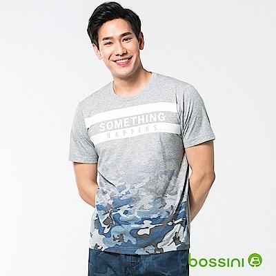 bossini男裝-圓領短袖T恤16淺灰