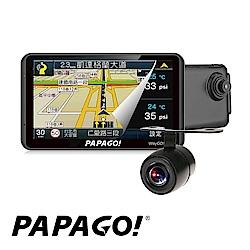 PAPAGO WayGO 730 7吋衛星導航+行車紀錄器+倒車顯影R1後鏡頭-快