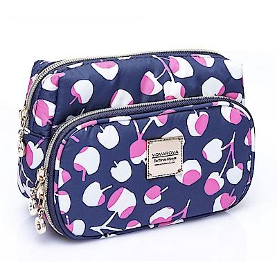 VOVAROVA空氣包-雙層化妝包-Cherrypicks-Indigo&pink