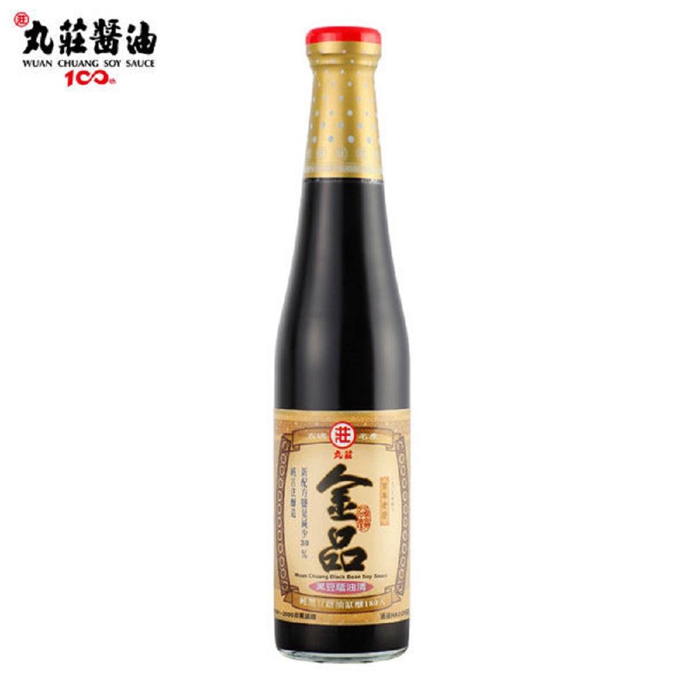 丸莊‧金品黑豆蔭油清(420ml/瓶,共二瓶)
