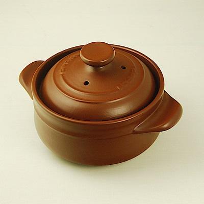 微波爐專用耐熱陶炊飯鍋調理鍋22cm咖啡色