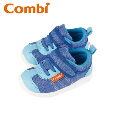 日本Combi童鞋 時尚紐約幼兒機能鞋-謎幻藍