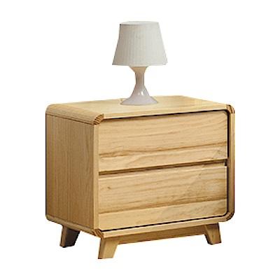 綠活居 普利斯時尚1.5尺實木床頭櫃/收納櫃-45x40x52cm免組