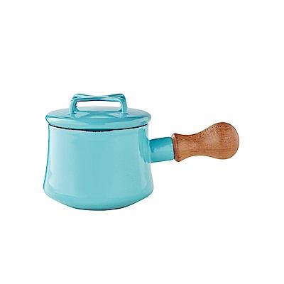 DANSK 迷你造型琺瑯鍋550ml 藍綠色(附鍋蓋)