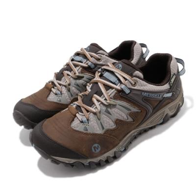 Merrell 戶外鞋 All Out Blaze GTX 女鞋 登山 越野 耐磨 黃金大底 防潑水 棕 藍 ML65020