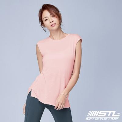 STL Yoga Fancy Modal SL 韓國瑜珈 運動機能 莫代爾無肩線無袖背心上衣 蜜桃粉PeachSherbet