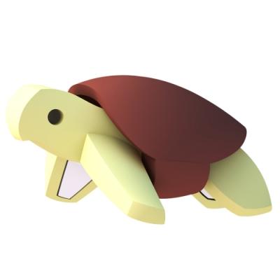【HALFTOYS 哈福玩具】3D海洋樂園:GREEN TURTLE 綠蠵龜 STEAM教育玩具