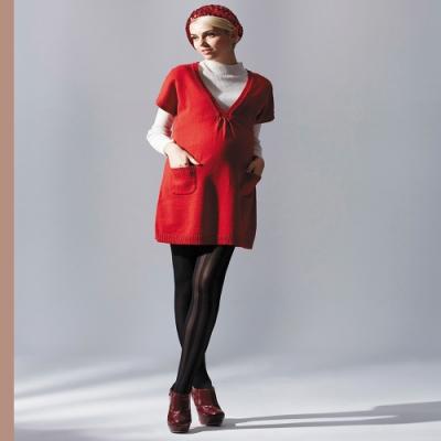 【ohoh-mini 孕哺裝】V領素色百搭針織衫孕哺洋裝