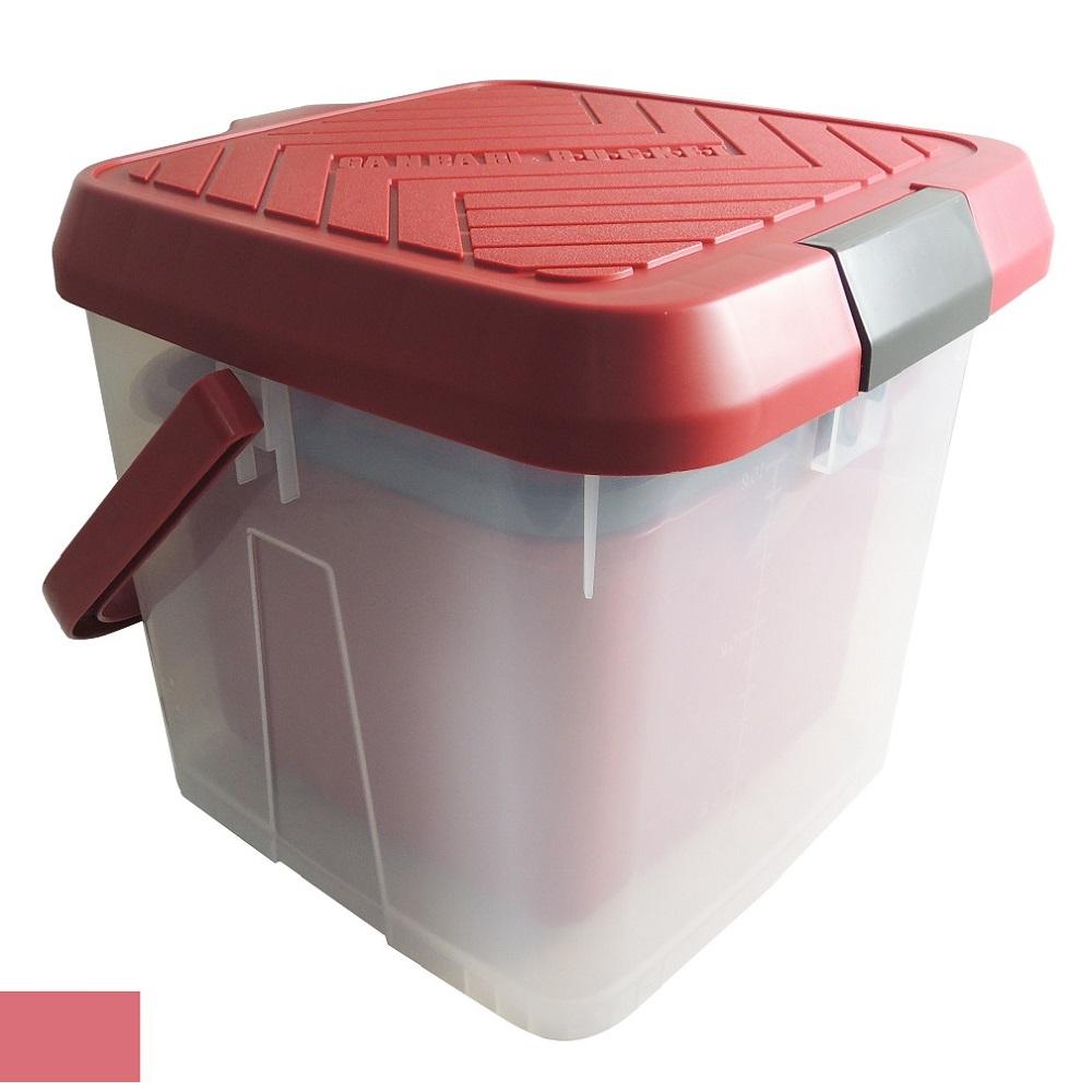 inomata 踏台水桶(紅) 日本原裝進口 17L