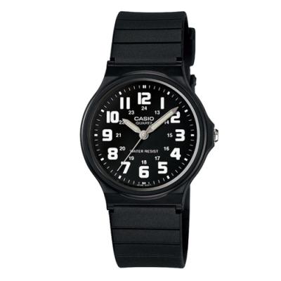 時時樂限定-CASIO 輕巧實用數字時刻經典指針錶/MQ-71系列(3色任選)