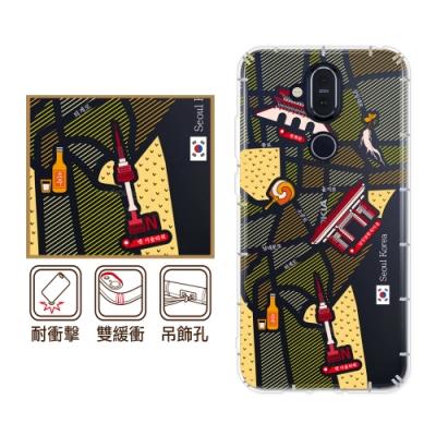 反骨創意 Nokia全系列 彩繪防摔手機殼-世界旅途(大韓民國)