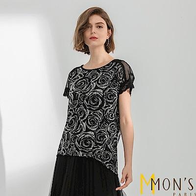 MONS 優雅法式蕾絲質感上衣