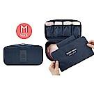 FUNNNY 升級版多用途防潑水 衣物收納包/萬用包 (M) 藏青