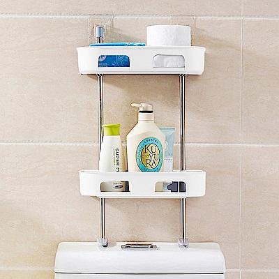 多功能浴室置物架//白色雙層